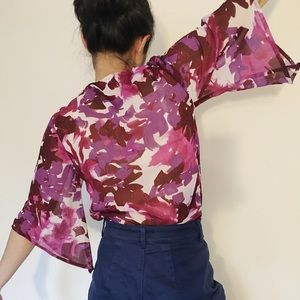 Sezane / Doen Style Sheer Top XS